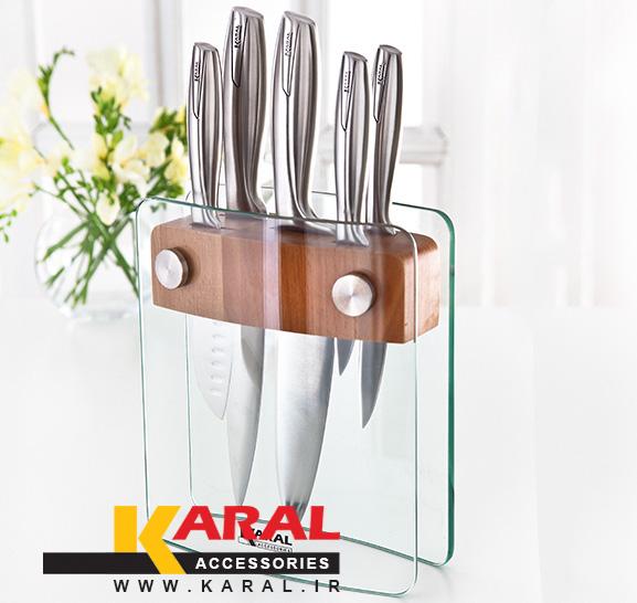 سرویس چاقوی آشپزخانه 6 پارچه کارال مدل بیوتی شارپ