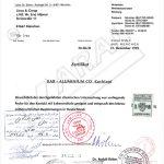 افتخارات و تاییدیه های شرکت کارال - تاییدیه صنایع مونیخ آلمان