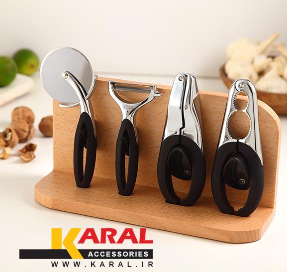 ست 5 پارچه ابزار آشپزخانه کارال مدل دایموند