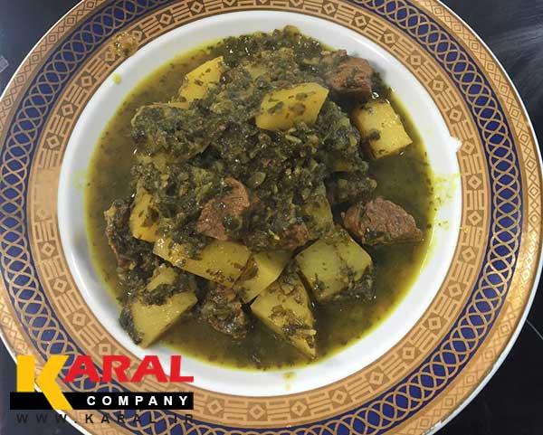 طرز تهیه خورشت آلو گشنیز جنوب در ظروف کارال