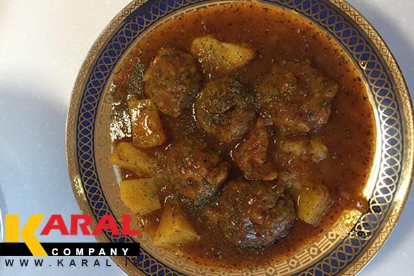 طرز تهیه قرمزه نخودچی اصفهان در ظروف کارال