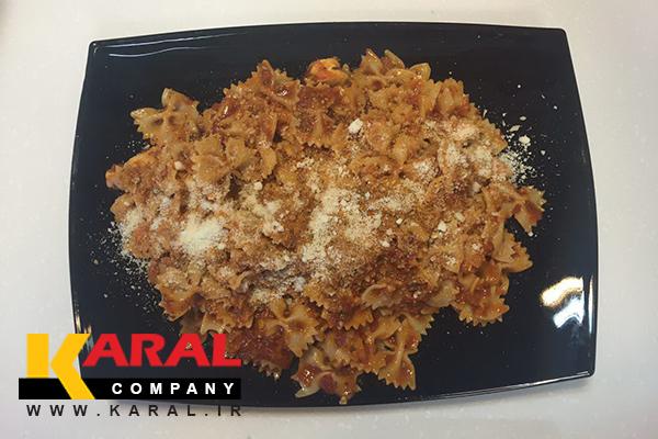 طرز تهیه پاستا با سس مارینرا در ظروف کارال