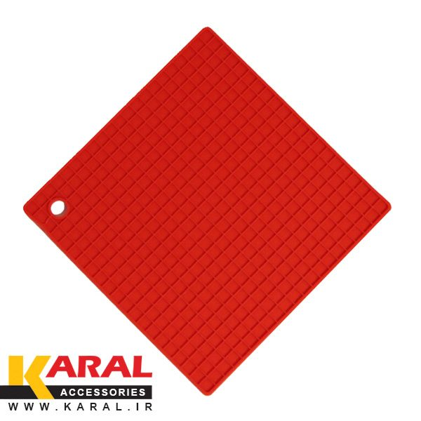 Square-Silicon-Coaster-red