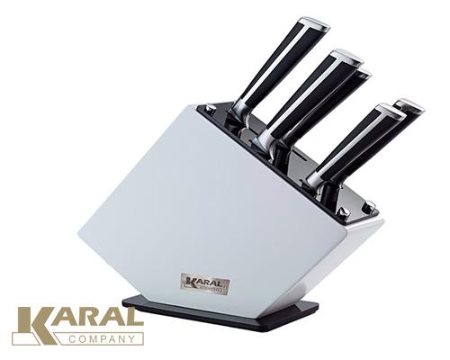 ست چاقوی آشپزخانه ۶ پارچه کارال مدل پروشات براق