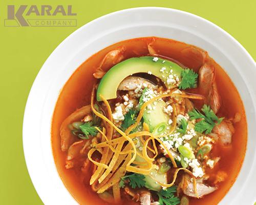 طرز تهیه سوپ تورتیلا در ظروف کارال