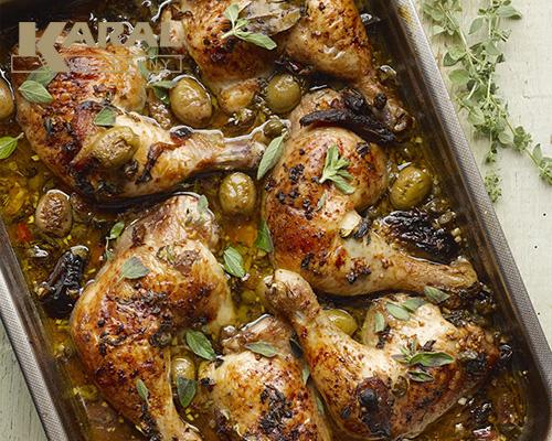 طرز تهیه خورش مرغ و زیتون در ظروف هاردآنادایز کارال
