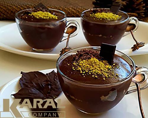 طرز تهیه پودینگ شکلاتی در ظروف کارال