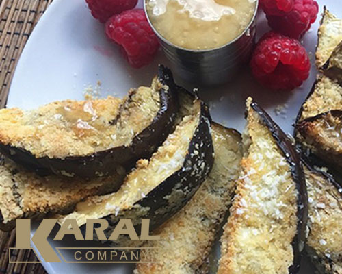 طرز تهیه کریسپی فینگرز بادمجان در ظروف کارال